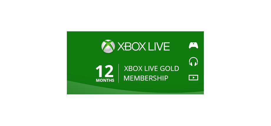 Xbox Live Gold: 12 Months Membership
