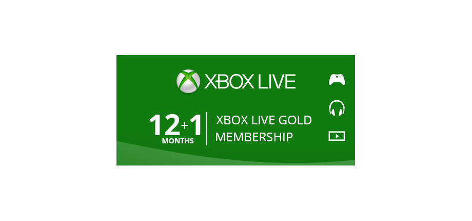 Xbox Live Gold: 12 + 1 Months Membership