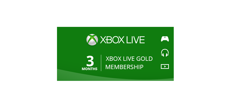 Xbox Live Gold: 3 Months Membership
