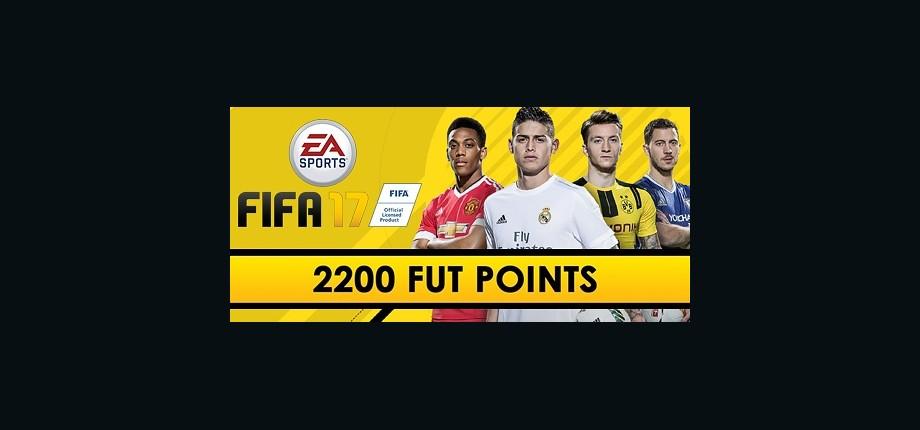 FIFA 17: 2200 Points Pack - Prepaid Card