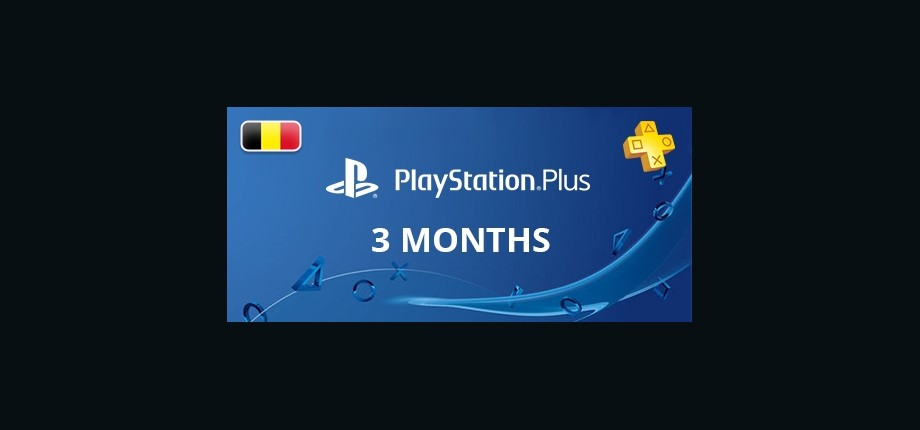 Playstation Network Plus: 3 Months Subscription - Belgium