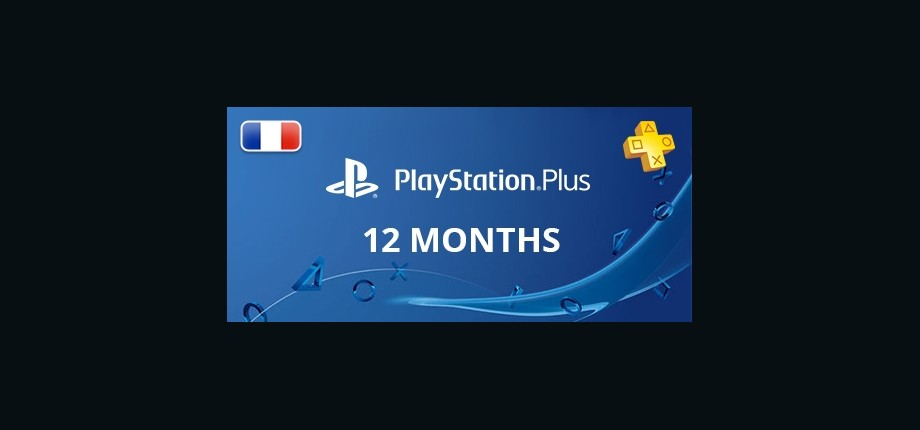 Playstation Network Plus: 12 Months Subscription - France