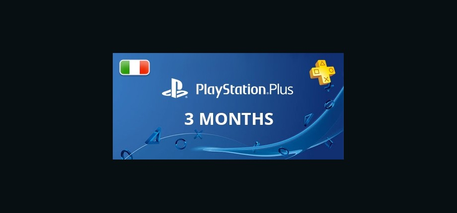 Playstation Network Plus: 3 Months Subscription - Italy