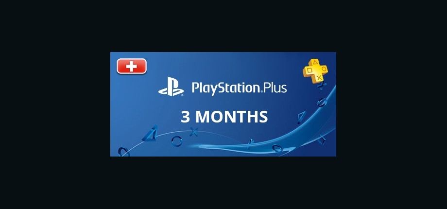 Playstation Network Plus: 3 Months Subscription - Switzerland