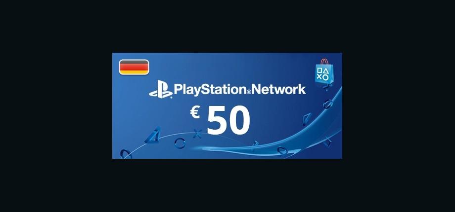 Playstation Network: 50 EUR Prepaid Card - Germany