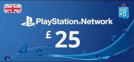 Playstation Network: 25 GBP Prepaid Card - United Kingdom