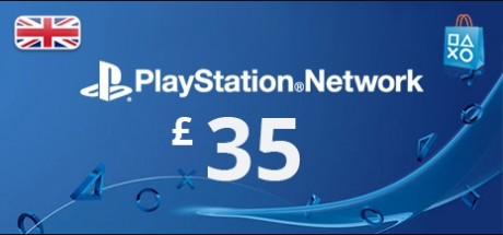 Playstation Network: 35 GBP Prepaid Card - United Kingdom