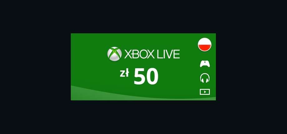Xbox Live: 50 PLN Prepaid Card - Poland