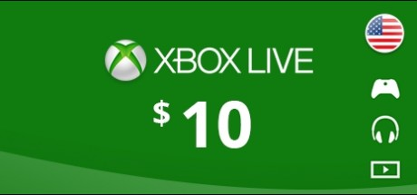 Xbox Live: 10 USD Prepaid Card - United States