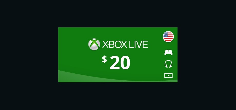 Xbox Live: 20 USD Prepaid Card - United States