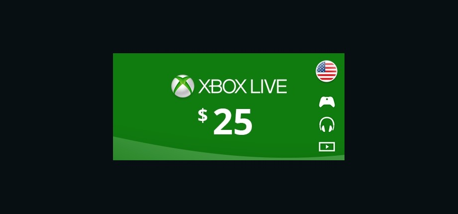 Xbox Live: 25 USD Prepaid Card - United States