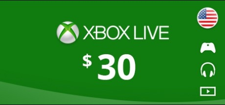 Xbox Live: 30 USD Prepaid Card - United States