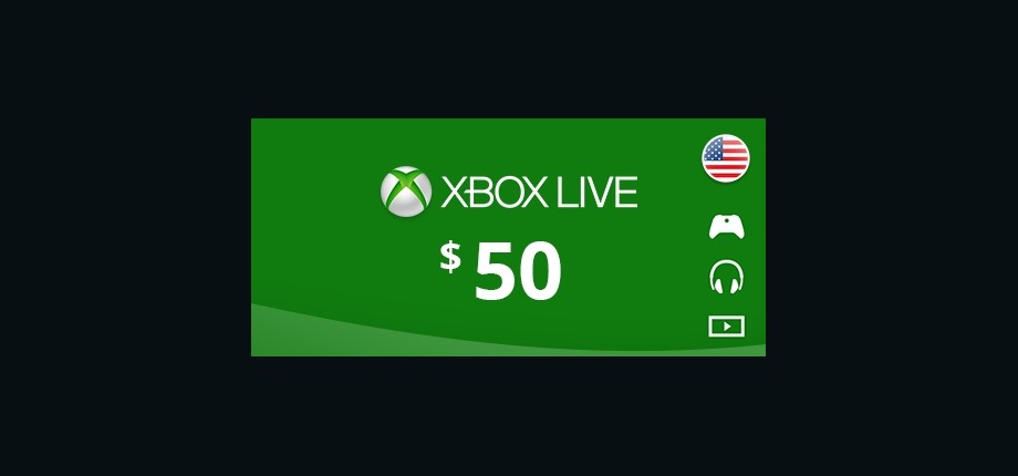 Xbox Live: 50 USD Prepaid Card - United States