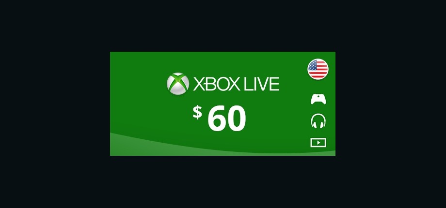 Xbox Live: 60 USD Prepaid Card - United States