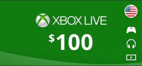 Xbox Live: 100 USD Prepaid Card - United States