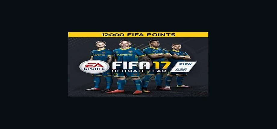FIFA 17: 12000 Points Pack - Prepaid Card
